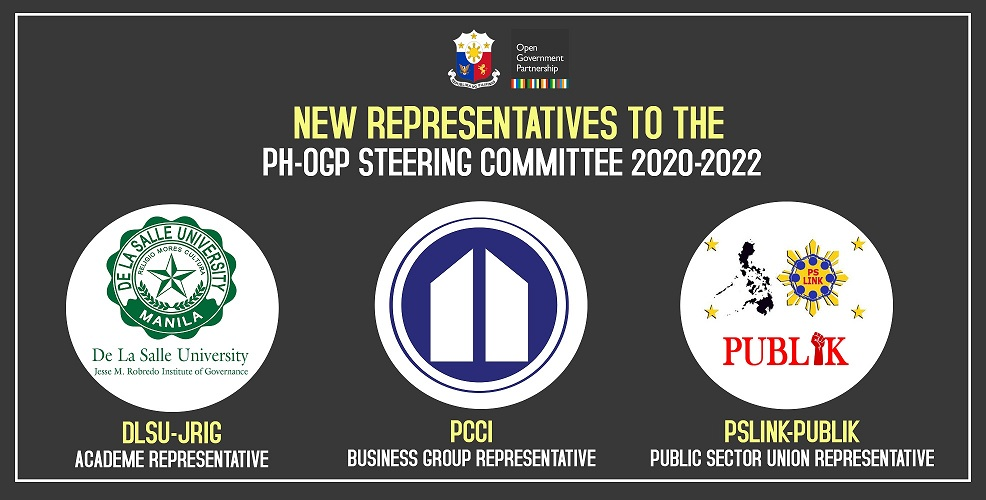 New Representatives to the Philippine-OGP Steering Committee 2020-2022